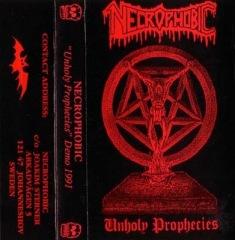 Necrophobic – Unholy prophecies (Demo) (1991) (SWE)   Freezing Moon